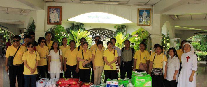 กิจกรรมร่วมใจเป็นผู้ให้ ภายใต้โครงการพัฒนาทักษะการนวดคนตาบอด